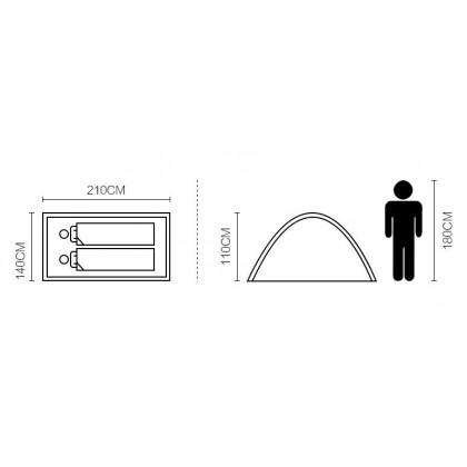 Mobi Garden 2 Person T2 Double Layer Lightweight Waterproof Tent