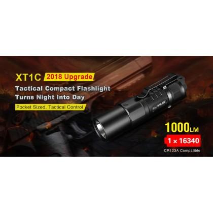 KLARUS XT1C 1000 Lumen Mini Small Tactical EDC flashlight 16340 LED Flashlight Dual Tail Switch