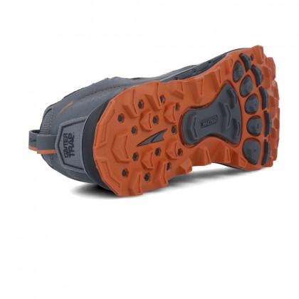 Altra Men Lone Peak 4.5 Trail Running Shoe - Gray Orange Color